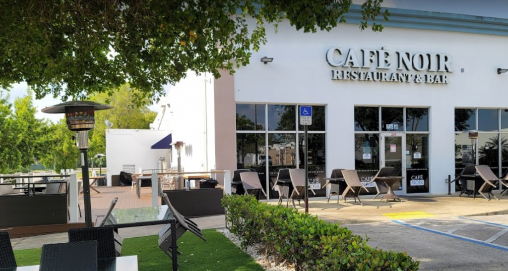 Cafe Noir has indoor and outdoor seating.