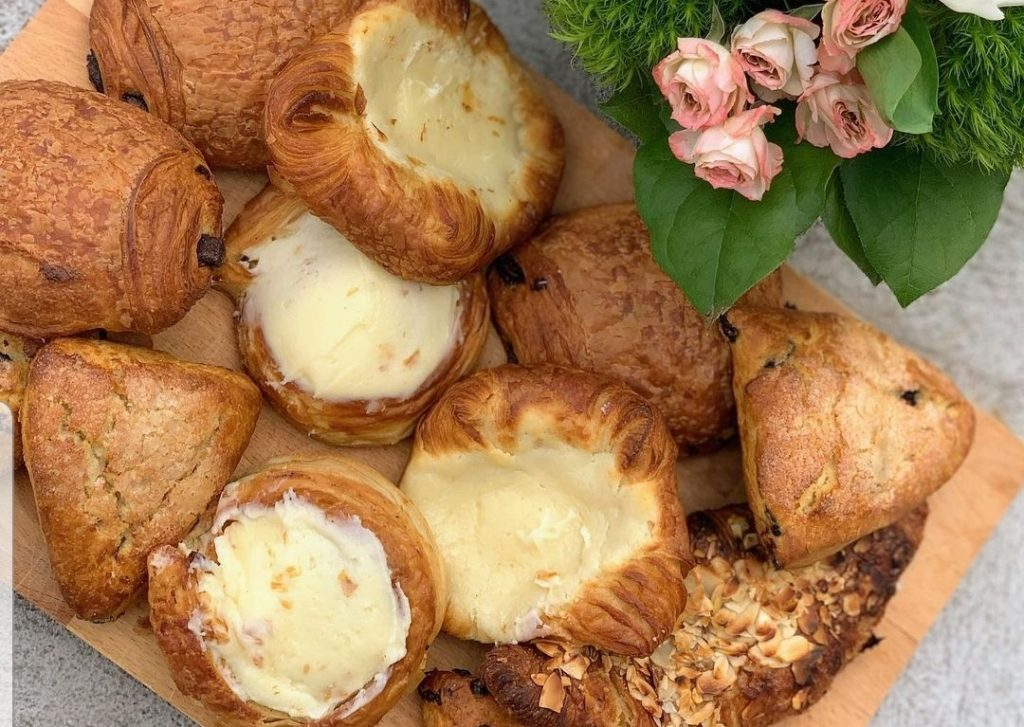 Chocolate-au-pain, cheese danishes, scones or almond croissants from Brooklyn Artisan Bakehouse