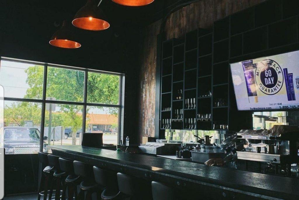 bar seating at Cafe Noir, Miami
