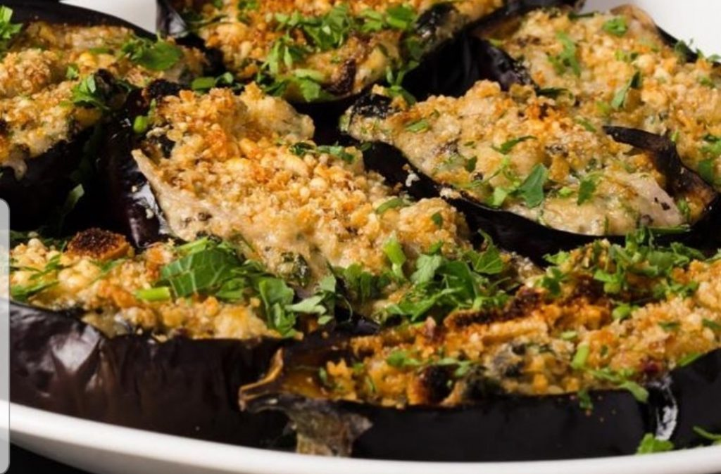 bulgarian eggplant at Cafe Muscat