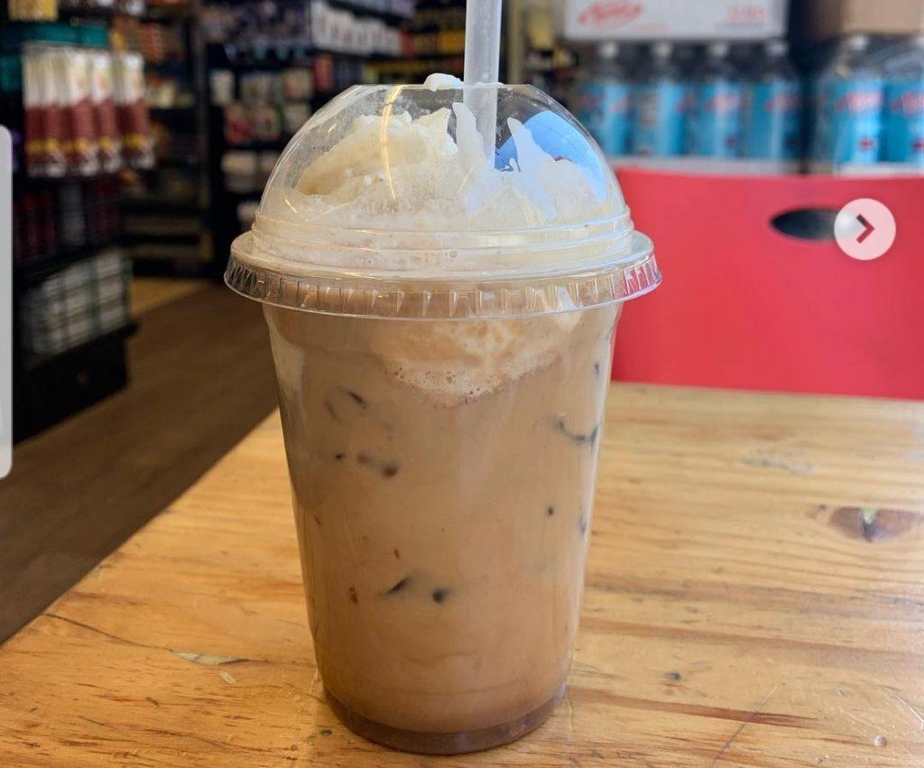 double chocolate mocha iced coffee at Koshertown Cafe