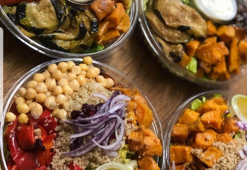 cobb corn salad at Koshertown Cafe Crown Heights, Brooklyn