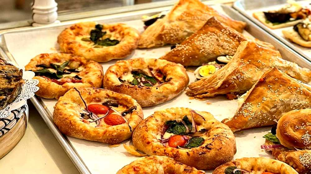 savory quiche pastries at Almah Cafe, Crown Heights