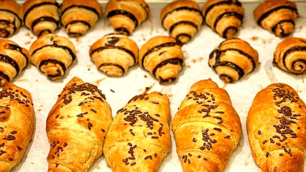 chocolate rugelach rolls at Almah Cafe