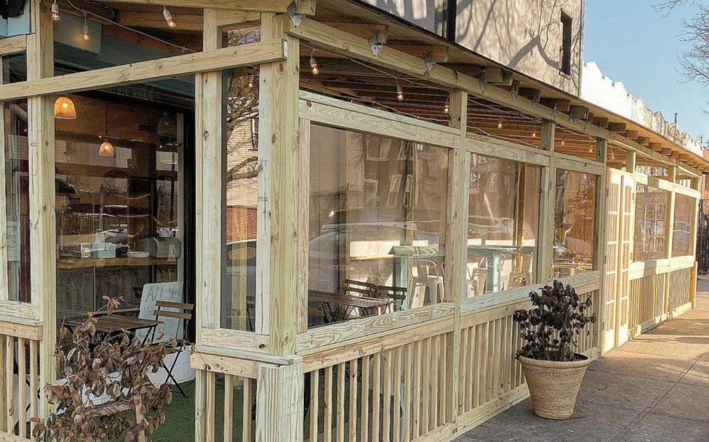 Almah cafe outdoor seating